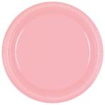 New Pink Plastic Plates 23cm - 10 PKG/10