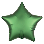 Satin Luxe Emerald Star Standard HX Packaged Foil Balloons S15 - 5 PC