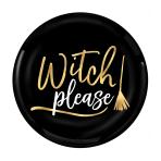 Witch Please Plastic Plates 19cm - 9 PKG/4