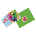 Ugly Dolls Postcard Invitations with Stickers - 6 PKG/8