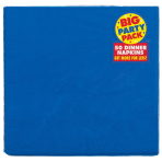 Bright Royal Blue Big Party Pack 2-Ply Dinner Napkins 40cm - 12 PKG/50