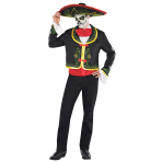 Adults Day Of The Dead Senor Skeleton Costume - Plus Size - 1 PC