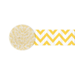 Sunshine Yellow Chevron Crepe Streamers 4.4cm x 24m - 12 PKG