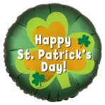 St. Patrick's Day Satin Luxe Standard HX Foil Balloons S40 - 5 PC