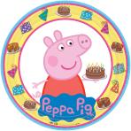 Peppa Pig Paper Plates 23cm - 6 PKG/8