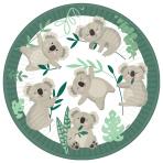 Koala Paper Plates 23cm - 12 PKG/8