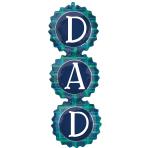 """DAD Checks SuperShape Foil Balloons 13""""/33cm w x 38""""/96cm h P35 - 5 PC"""