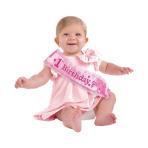 1st Birthday Pink Fabric Sashes 37cm x 9.5cm - 6 PC