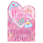 Princess Folded Thank You    - 6 PKG/8
