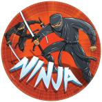 Ninja Paper Plates 23cm - 12 PKG/8