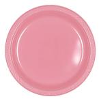 Pretty Pink Plastic Plates 23cm - 10 PKG/10