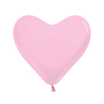 "Fashion Colour Heart Solid Pink 009 Latex Balloons 6""/15cm - 100 PC"