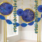 Midnight NYE Paper and Foil Room Decoration Kits - 6 PKG/14