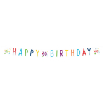 Confetti Birthday 60th Birthday Letter Banners 1.8m - 10 PC