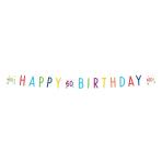 Confetti Birthday 60th Birthday Letter Banners 1.8m - 10 PC