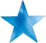 Blue Foil Star Cutouts 23cm - 4 PKG