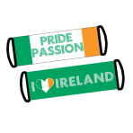 Ireland Flag Fan Banner  - 77cm x 24cm 6 PKG