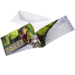 Dinosaur Attack Invitations with Envelopes - 10 PKG/8