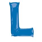 """Letter L Blue SuperShape Foil Balloons 34""""/""""86cm P50 - 5 PC"""