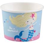 Be a Mermaid Paper Treat/Ice Cream Cups 270ml - 10 PKG/8