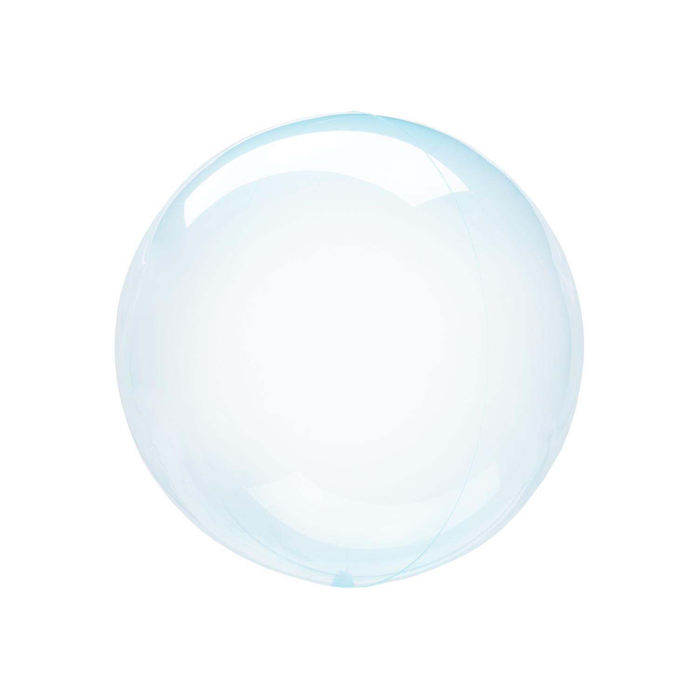 Petite Blue Crystal Clearz Orbz Sphere Helium Balloon