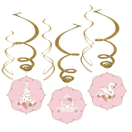Princess for a Day Swirl Decorations - 6 PKG/6