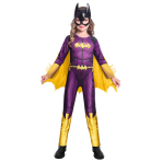 Batgirl Comic Style Costume - Age 4-6 Years - 1 PC