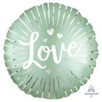 Satin Love Burst Standard Foil Balloons S40 - 5 PC