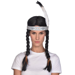 Native American Wigs with Headdress - 6 PC