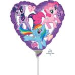 My Little Pony Heart Mini Foil Balloons A20 - 5 PC