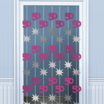 50th Birthday Door Curtains 2m - 6 PKG