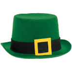 St. Patrick's Green Top Hats 15cm x 33cm - 12 PC