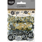 Gold Sparkling Celebration 40th Confetti 34g - 12 PKG