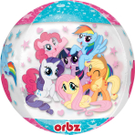 "My Little Pony Clear Orbz Foil Balloons 15""/38cm w x 16""/40cm h G40 - 5 PC"