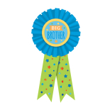 Big Brother Blue Award Ribbons - 6 PC