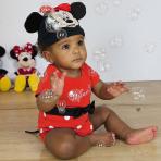 Disney Minnie Mouse Jersey Bodysuit & Hat - Age 0-3 Months - 1 PC