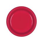 Apple Red Plastic Plates 18cm - 10 PKG/10