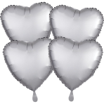 4 Pack Platinum Hearts Packaged Foil Balloons G20 - 3 PC