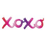 """XOXO Ombre Phrase Foil Balloons 39""""/99cm x 11""""/27cm G40 - 5 PC"""