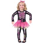 Fancy Bones Skeleton Costume - Age 6-8 Years - 1 PC