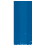 Royal Blue Large Plastic Party Bags 29cm x 12.5cm x 9cm - 12 PKG/25