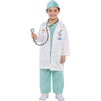 Children Doctor Costume - Age 4-6 Years - 1 PC