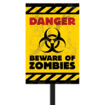 Zombies Plastic Lawn Signs 38cm h x 27.7cm w - 24 PC
