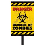 Zombies Plastic Lawn Signs 38cm h x 27.7cm w - 24 PC