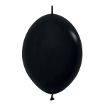 "Fashion Colour Link-O-Loon Solid Black 080 Latex Balloons 6""/15cm - 100 PC"