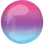 """Ombre Purple & Blue Orbz Foil Balloons 15""""/38cm w x 16""""/40cm h G20 - 5 PC"""