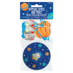 Blast Off Birthday Cupcake Cases & Picks - 9 PKG/48
