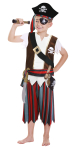 Boys Pirate Costume & Accessories - Age 3-5 years - 1 PC