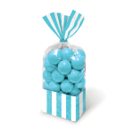 Candy Buffet Striped Party Bags Caribbean Blue - 24 PKG/10