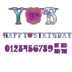 Frozen Add an Age Letter Banner Customisable - 3.2m x 25cm - 6 PKG